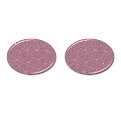 Triangle Background Abstract Cufflinks (oval)