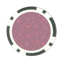 Triangle Background Abstract Poker Chip Card Guard