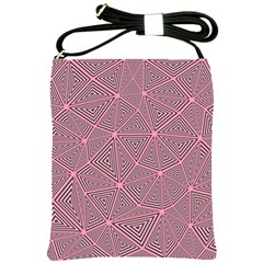 Triangle Background Abstract Shoulder Sling Bags