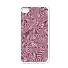 Triangle Background Abstract Apple Iphone 4 Case (white)