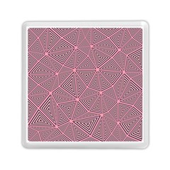 Triangle Background Abstract Memory Card Reader (square)