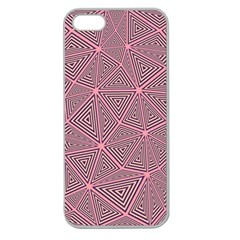 Triangle Background Abstract Apple Seamless Iphone 5 Case (clear)