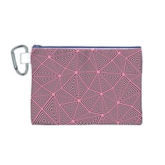 Triangle Background Abstract Canvas Cosmetic Bag (m)