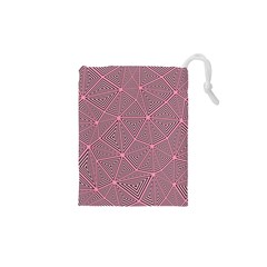 Triangle Background Abstract Drawstring Pouches (xs)