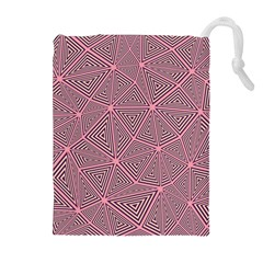 Triangle Background Abstract Drawstring Pouches (extra Large)
