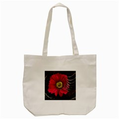 Fantasy Flower Fractal Blossom Tote Bag (cream)