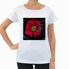 Fantasy Flower Fractal Blossom Women s Loose Fit T Shirt (white)