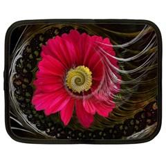 Fantasy Flower Fractal Blossom Netbook Case (large)