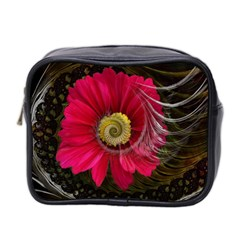 Fantasy Flower Fractal Blossom Mini Toiletries Bag 2 Side