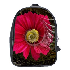 Fantasy Flower Fractal Blossom School Bag (xl)