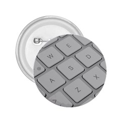 Keyboard Letters Key Print White 2 25  Buttons