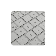 Keyboard Letters Key Print White Square Magnet