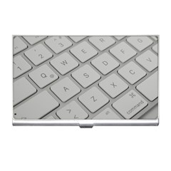 Keyboard Letters Key Print White Business Card Holders