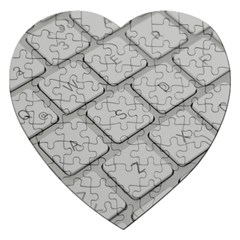 Keyboard Letters Key Print White Jigsaw Puzzle (heart)