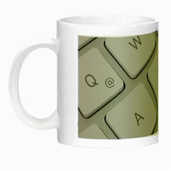 Keyboard Letters Key Print White Night Luminous Mugs