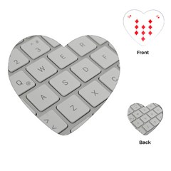 Keyboard Letters Key Print White Playing Cards (heart)