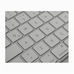 Keyboard Letters Key Print White Small Glasses Cloth (2 Side)