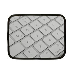 Keyboard Letters Key Print White Netbook Case (small)