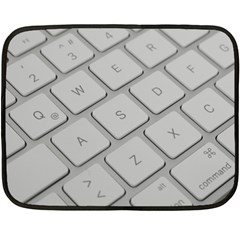 Keyboard Letters Key Print White Double Sided Fleece Blanket (mini)