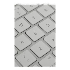 Keyboard Letters Key Print White Shower Curtain 48  X 72  (small)