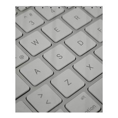 Keyboard Letters Key Print White Shower Curtain 60  X 72  (medium)