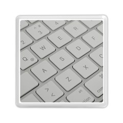 Keyboard Letters Key Print White Memory Card Reader (square)