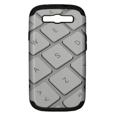 Keyboard Letters Key Print White Samsung Galaxy S Iii Hardshell Case (pc+silicone)