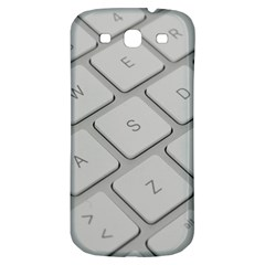 Keyboard Letters Key Print White Samsung Galaxy S3 S Iii Classic Hardshell Back Case