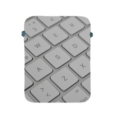 Keyboard Letters Key Print White Apple Ipad 2/3/4 Protective Soft Cases