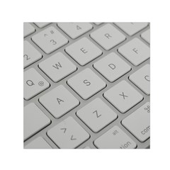 Keyboard Letters Key Print White Small Satin Scarf (square)