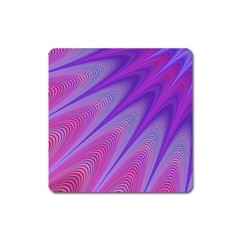 Purple Star Sun Sunshine Fractal Square Magnet