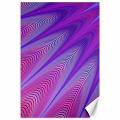 Purple Star Sun Sunshine Fractal Canvas 12  X 18