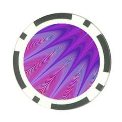 Purple Star Sun Sunshine Fractal Poker Chip Card Guard