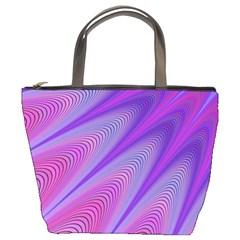 Purple Star Sun Sunshine Fractal Bucket Bags