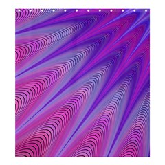 Purple Star Sun Sunshine Fractal Shower Curtain 66  X 72  (large)
