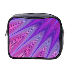 Purple Star Sun Sunshine Fractal Mini Toiletries Bag 2 Side