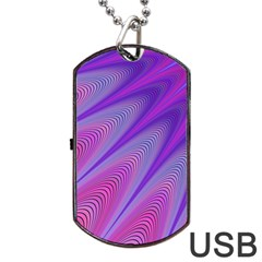 Purple Star Sun Sunshine Fractal Dog Tag Usb Flash (two Sides)