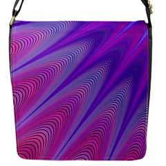 Purple Star Sun Sunshine Fractal Flap Messenger Bag (s)