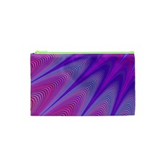 Purple Star Sun Sunshine Fractal Cosmetic Bag (xs)