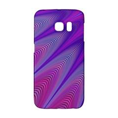 Purple Star Sun Sunshine Fractal Galaxy S6 Edge