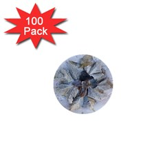 Winter Frost Ice Sheet Leaves 1  Mini Buttons (100 Pack)