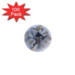 Winter Frost Ice Sheet Leaves 1  Mini Magnets (100 Pack)