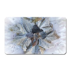 Winter Frost Ice Sheet Leaves Magnet (rectangular)