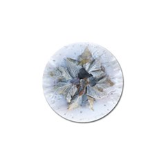 Winter Frost Ice Sheet Leaves Golf Ball Marker