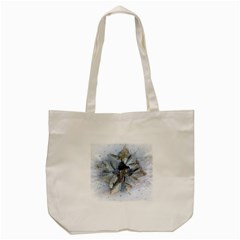 Winter Frost Ice Sheet Leaves Tote Bag (cream)