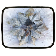 Winter Frost Ice Sheet Leaves Netbook Case (large)