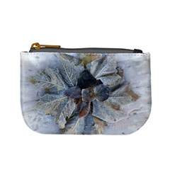 Winter Frost Ice Sheet Leaves Mini Coin Purses