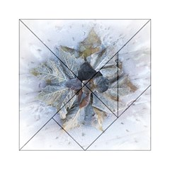 Winter Frost Ice Sheet Leaves Acrylic Tangram Puzzle (6  X 6 )