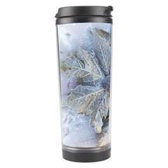 Winter Frost Ice Sheet Leaves Travel Tumbler