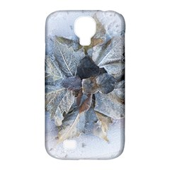 Winter Frost Ice Sheet Leaves Samsung Galaxy S4 Classic Hardshell Case (pc+silicone)